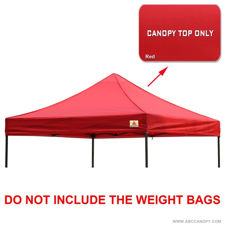 (23+ colors)100% Waterproof AbcCanopy 10x10 Replacement Top Cover for Caravan Pop up Canopy Tent(red with out weight bag)