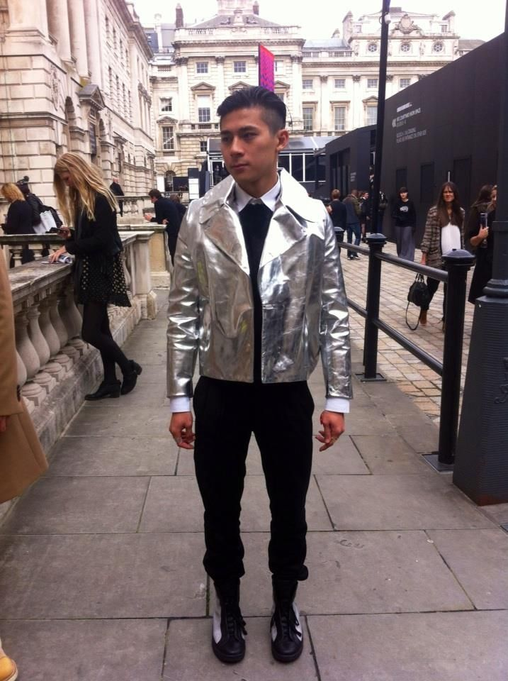 Metallic menswear
