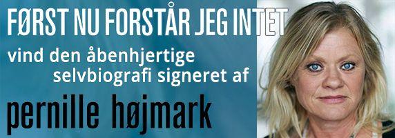 Vind et ding dong super duper etc. signeret eksemplar af Pernille Højmarks selvbiografi.