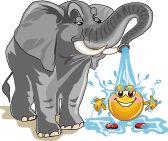 GIF - Jaaa ..., auch ein kleiner Smiley muss sich sauber halten!