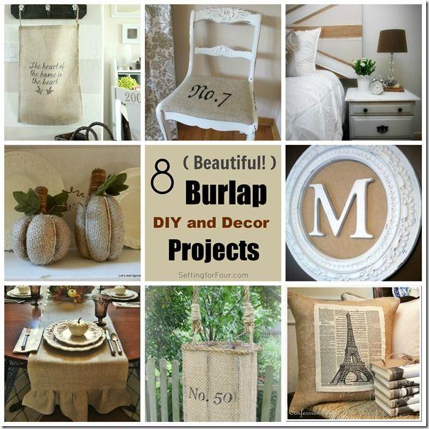 141 Best Images About Burlap Ideas On Pinterest