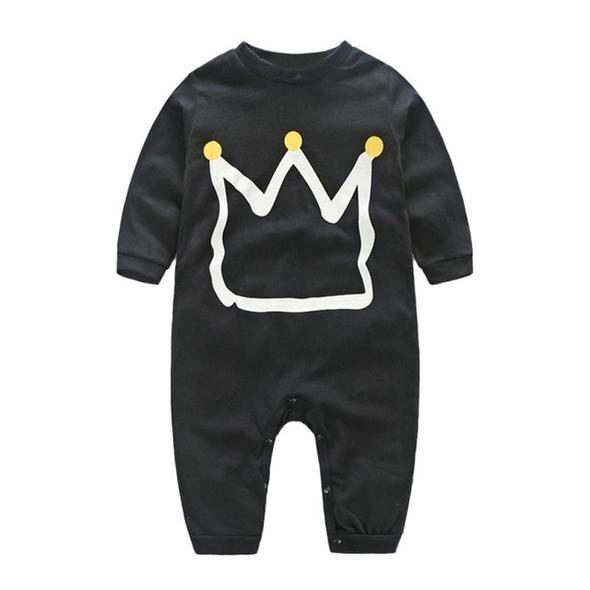 439b409f0aa Classic Crown Print Baby Boy Romper | Baby Boy Clothes | Kids ...