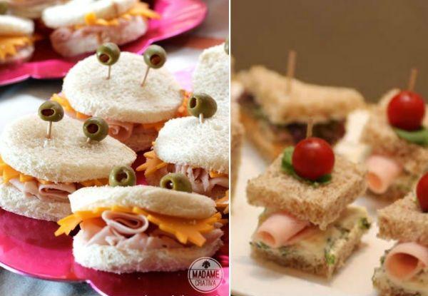 Imagens: http://www.madamecriativa.com.br e http://www.acaciapsi.com.br sanduíches pra festa