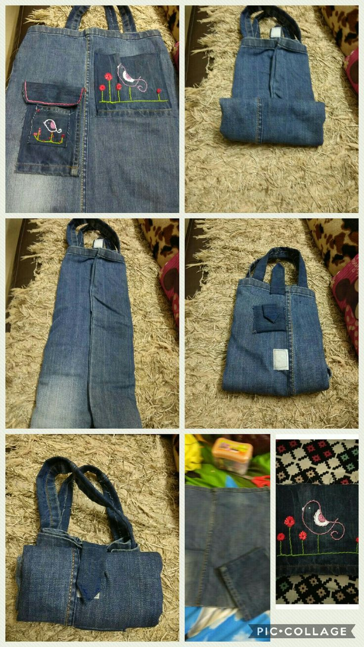 From old jeans.... foldable surprise bag