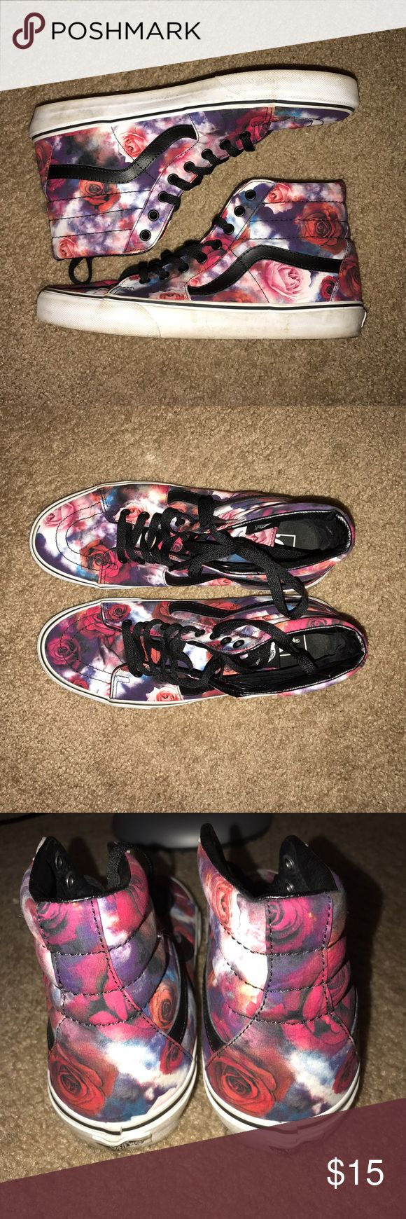 Galaxy Roses Vans Sneakers This pattern is everything! Rock it with jeans or with a cute dress! These are a men's size 10, equivalent to 11-11.5 in women's. Vans Shoes Athletic Shoes
