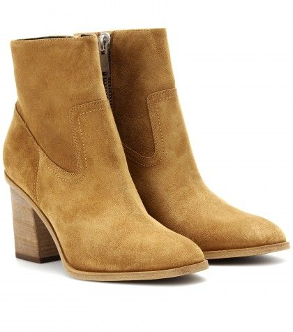 #SaintLaurent HUNTING SUEDE ANKLE BOOTS