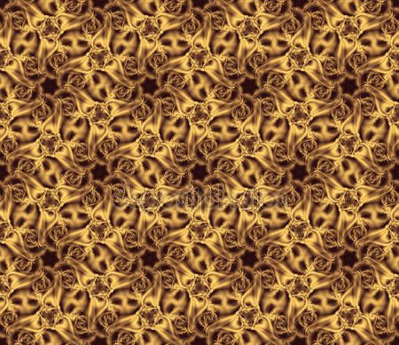 Download - The abstract curling seamless pattern, yellow — Stock Image #126371380