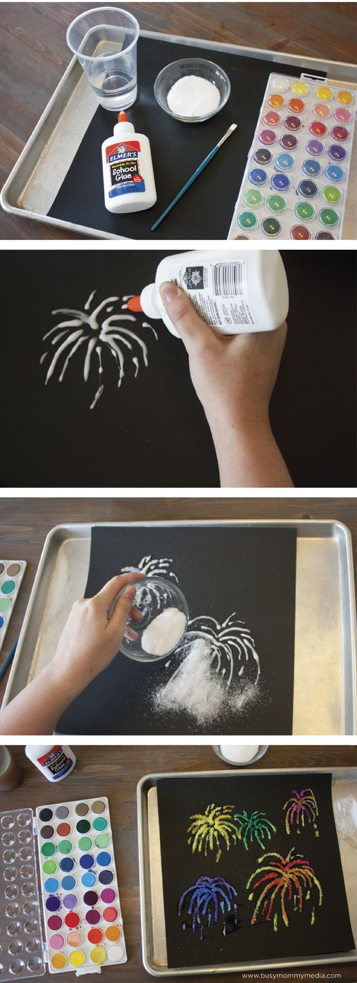 Salt Painting - This is such a cool project! I love that it only uses a few materials and it looks so fun!