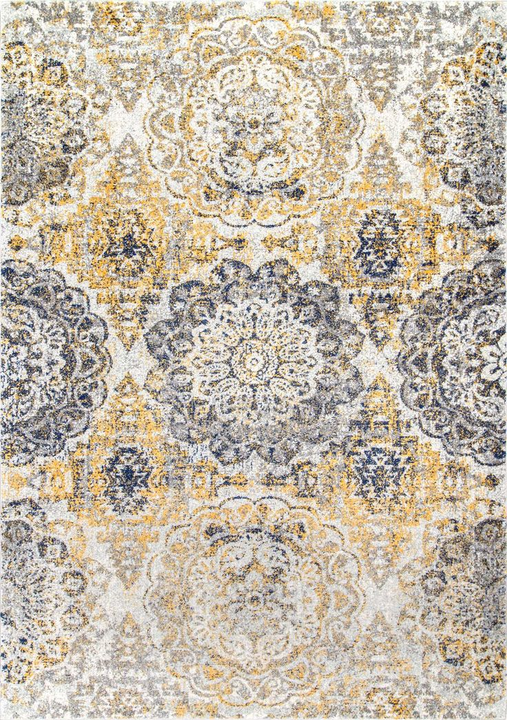 So intricate and lovely! This is Rugs USA's Bosphorus BD52 Faded Blossom Damask Rug!