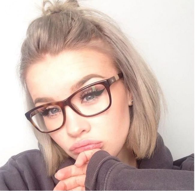 Glasses Frame Color For Black Hair : 17 Best ideas about Cool Ash Blonde on Pinterest Ashy ...