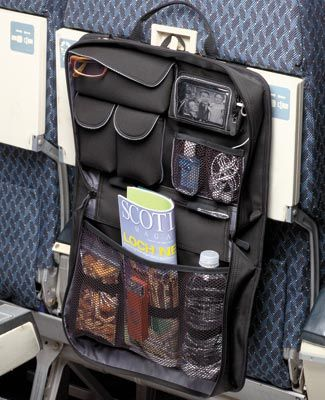 Have everything right where you need it, no seatback pockets, nothing on the floor, and don't forget anything!