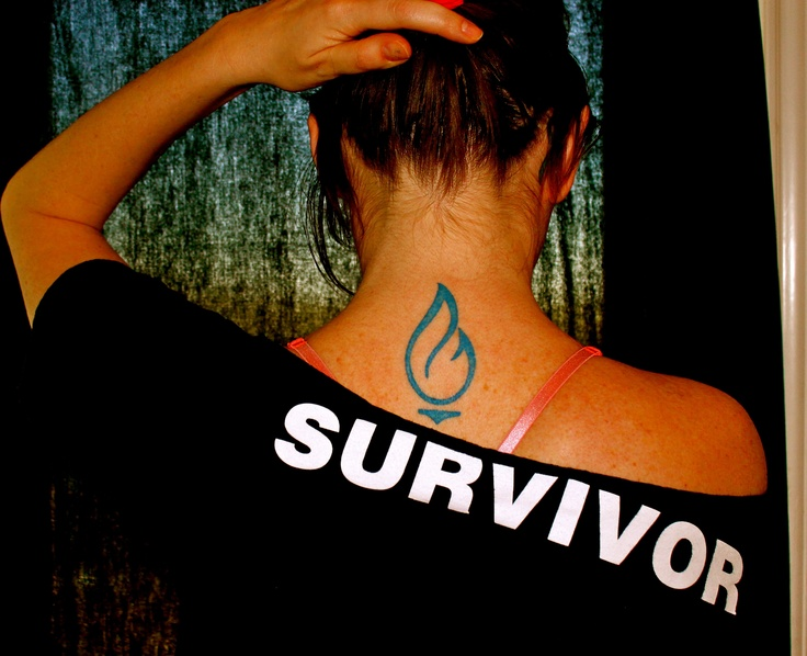 "After Candice Stinnett survived Non-Hodgkin Lymphoma, she had the Baylor Health Care System logo tattooed on her back to celebrate her ""cancerversary."" Read her cancer survivor story 