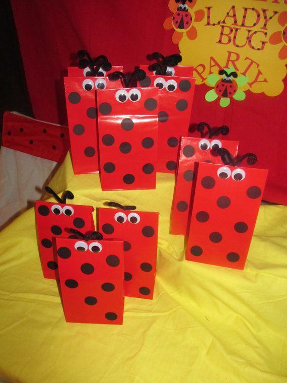 Ladybug Party Goody Bags    @Lori Bernard Acosta