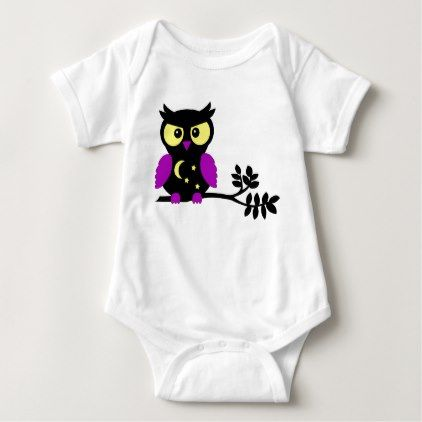 Halloween Owl Baby Bodysuit - baby gifts child new born gift idea diy cyo special unique design