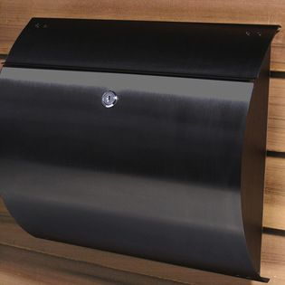 Spira Wall Mount Mailbox - The Spira Wall Mount Mailbox features a very contemporary semi-circle profile design. Created by Helix Designs, this residential mailbox is constructed of stainless steel so rust won't be an issue. These modern residential mailboxes come with a lock and 2 keys and come in a black powder coat option.