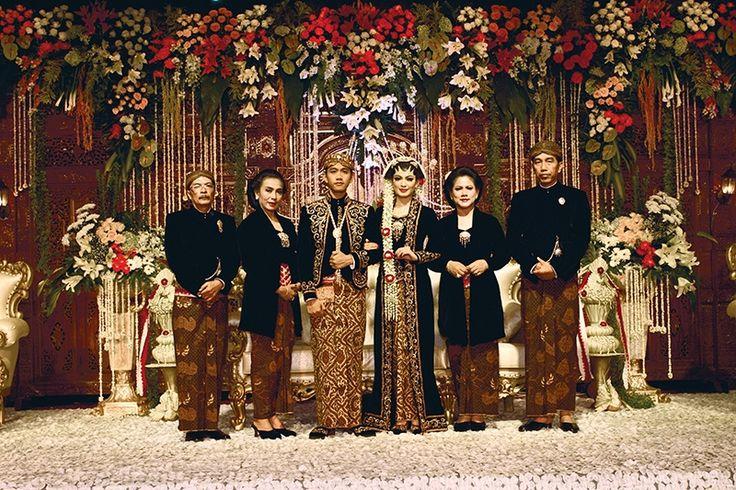 The wedding of president jokowi's son. Javaness wedding