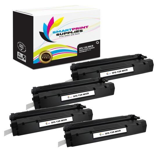 4 Pack HP 13X Q2613X Replacement Black High Yield MICR Toner Cartridge