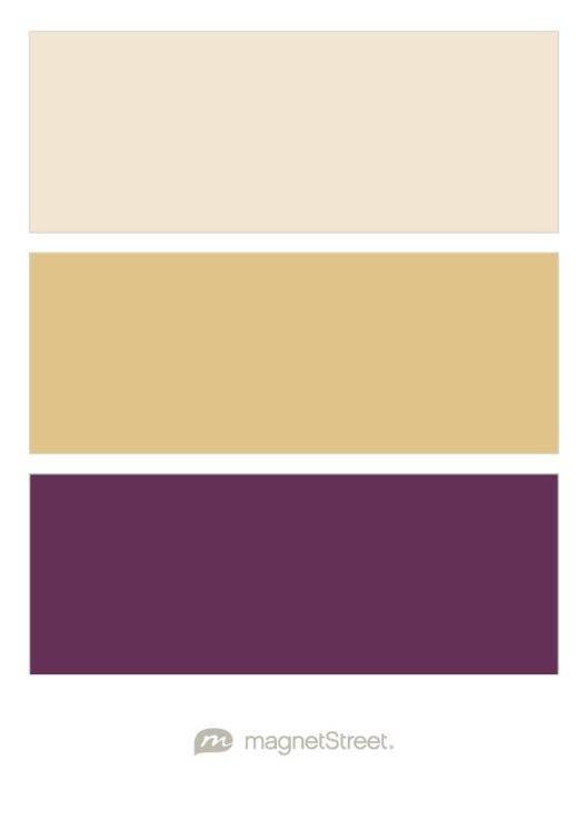 Champagne Gold And Eggplant Wedding Color Palette Custom Created At Magnetstreet 3 Colors