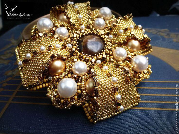 """Купить Брошь орден """"Императрица"""" - золотой, брошь орден, орден, золотая брошь, брошь с жемчугом"""