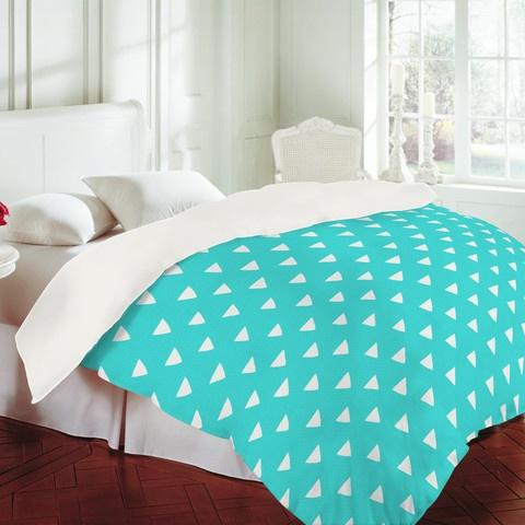 Bianca Green Geometric Confetti Teal Duvet Cover