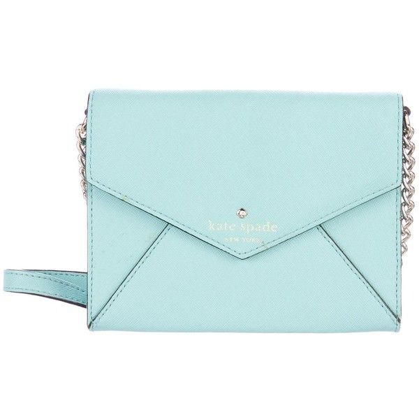Pre-owned Kate Spade New York Cedar Street Monday Crossbody Bag ($65) ❤ liked on Polyvore featuring bags, handbags, shoulder bags, green, green crossbody purse, blue crossbody, green shoulder bag, green purses and blue shoulder bag