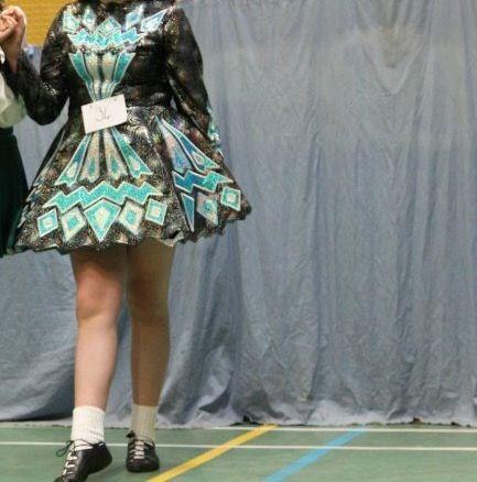 Classy Blue Paul Keith Irish Dance Dress Solo Costume For Sale