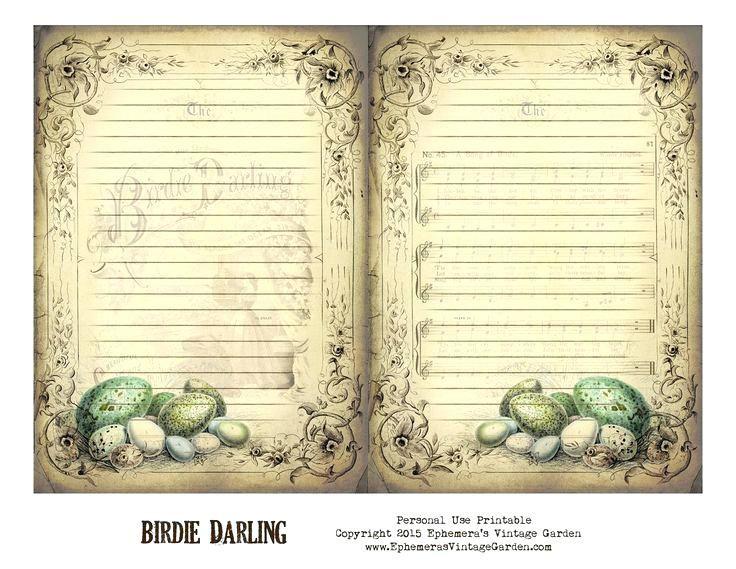 Free Printable Vintage Journal Pages Old Fashioned Template Vintage Journal Vintage Printables Journal Printables