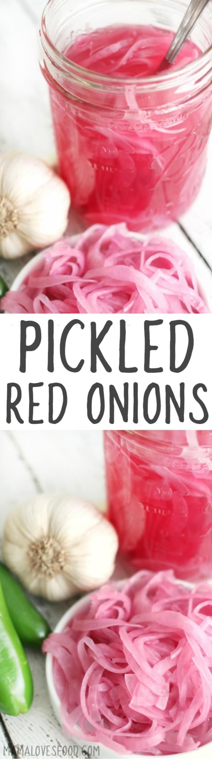 PICKLED RED ONIONS - how to make easy pickled red onions. #pickledonions #pickledredonions #onion #pickles #recipe
