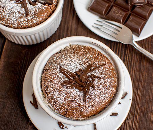 Amazing Warm Valrhona Chocolate Cake by David Penner, made with Valrhona Caraibe 66% and Valrhona Cocoa Powder!