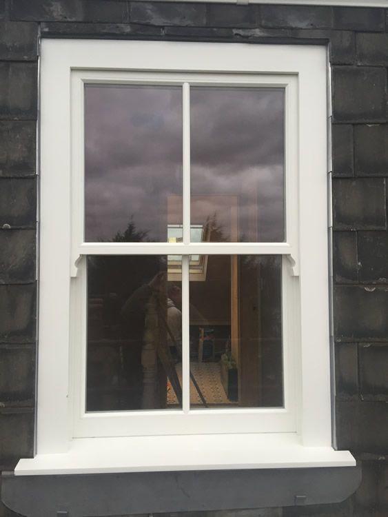 Timber sash window installation in Highgate, north London - Enfield Windows