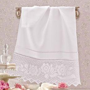 Crespo di lino bianco, schema su carta a quadretti, 1 matassina ricamo 25, 2 gomitoli cordonetto 16 bianco per realizzare l'asciugamano con bordo uncinetto filet motivo fiori