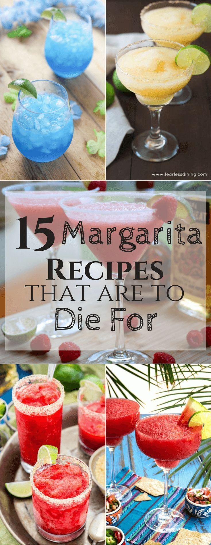 15 unique margarita recipes! Perfect summer cocktails.