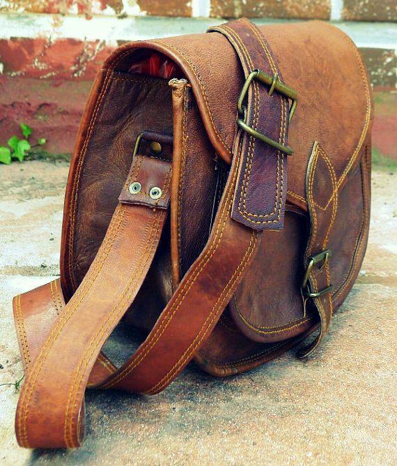Rustic Leather Purse Leather Crossbody Bag Leather Handbag for ...