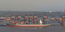 Puerto Jawaharlal Nehru, ubicado al sur de Bombay.