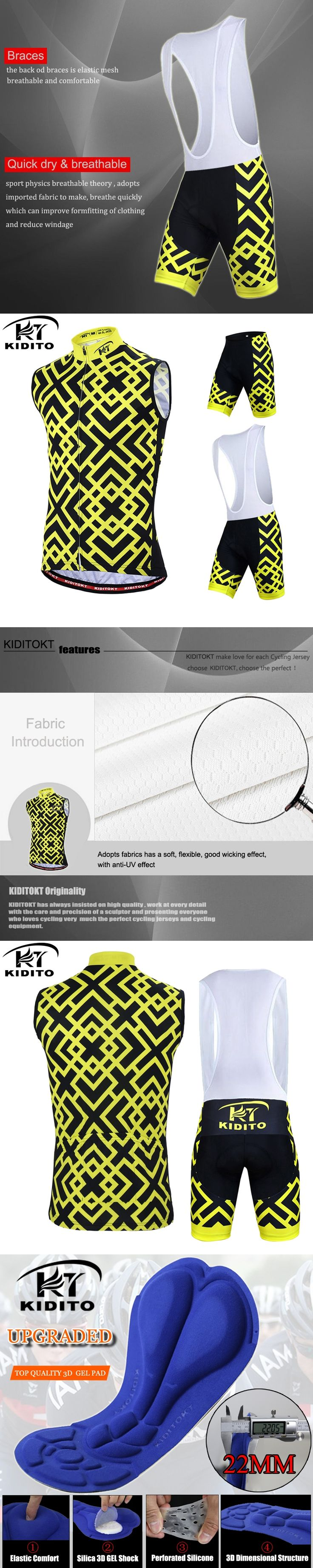 KIDITOKT  Lucius Breathable Pro Sleeveless Cycling Jersey Summer MTB Clothes Bicycle Clothing Ropa Maillot Ciclismo Bike Vests