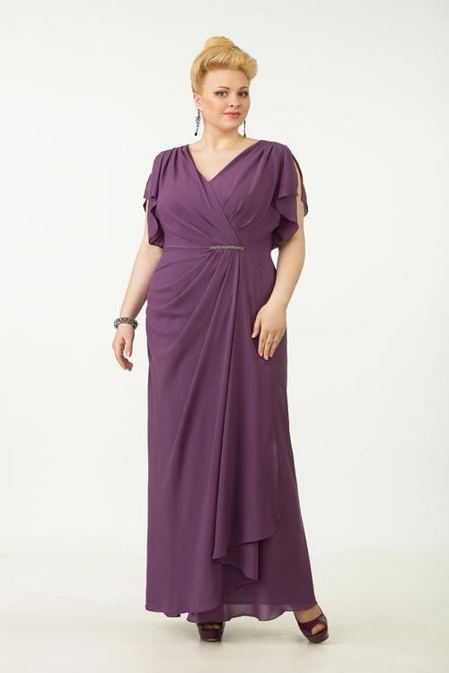 Торжественное платье для полной фигуры, Модель 1018
