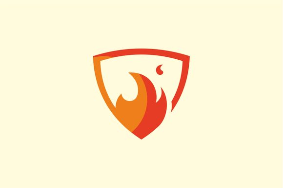 Flame Shield Logo by Logo on Creative Market