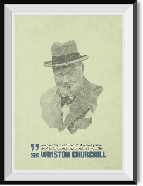 """Churchill """"Enemies"""" quote poster"""