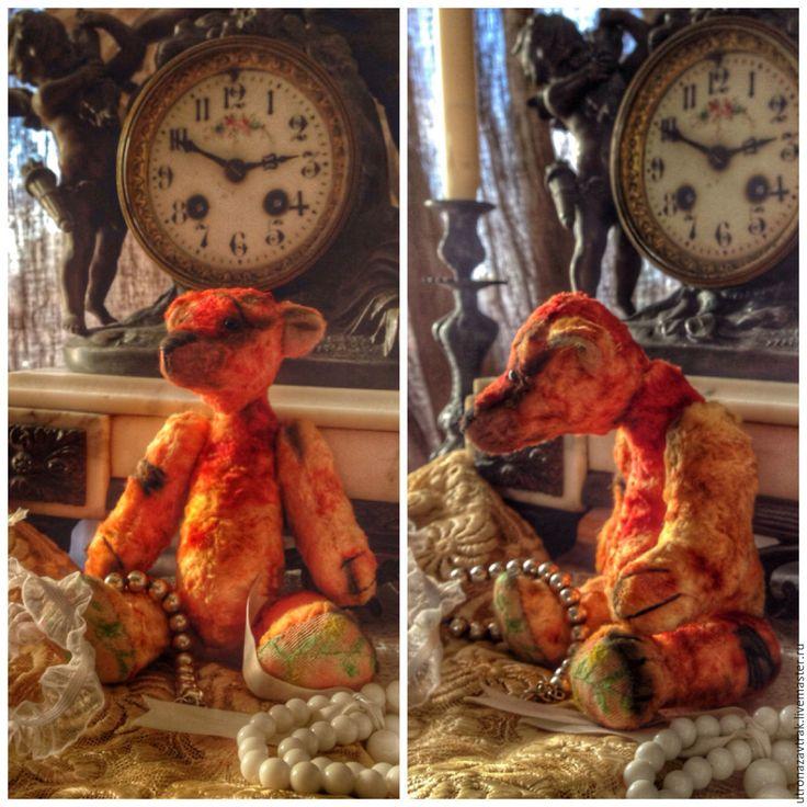 Купить Мишка тедди Любовь, интерьерная игрушка - рыжий, опилки, интерьерная кукла, интерьерная игрушка