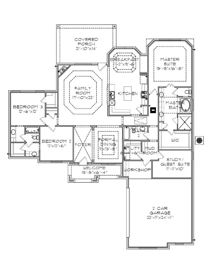 3 Bedroom With Basement House Plans