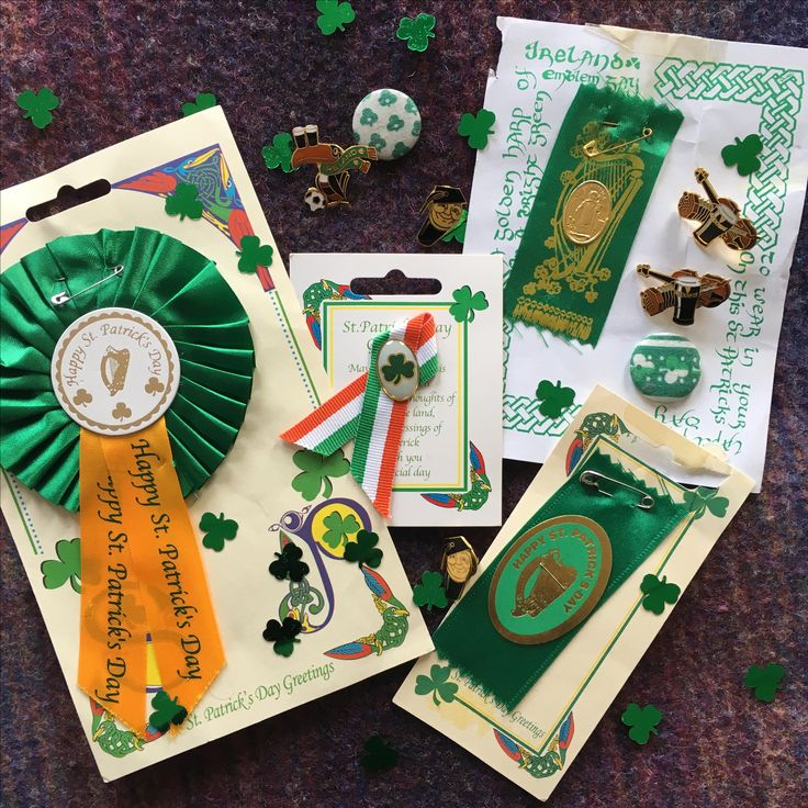 My collection St Patrick's Day badges with a few Guinness pins for added flavour!