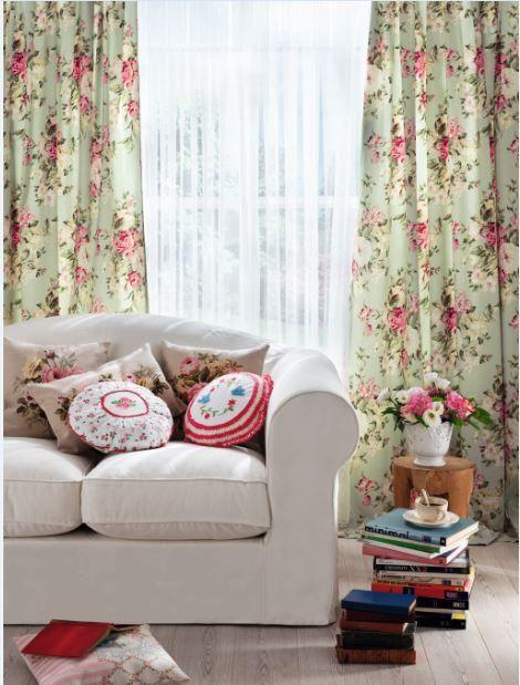 Mel Bory özel dikim perde English Home mağazalarında #englishhome #perde #özeldikim #floralprint