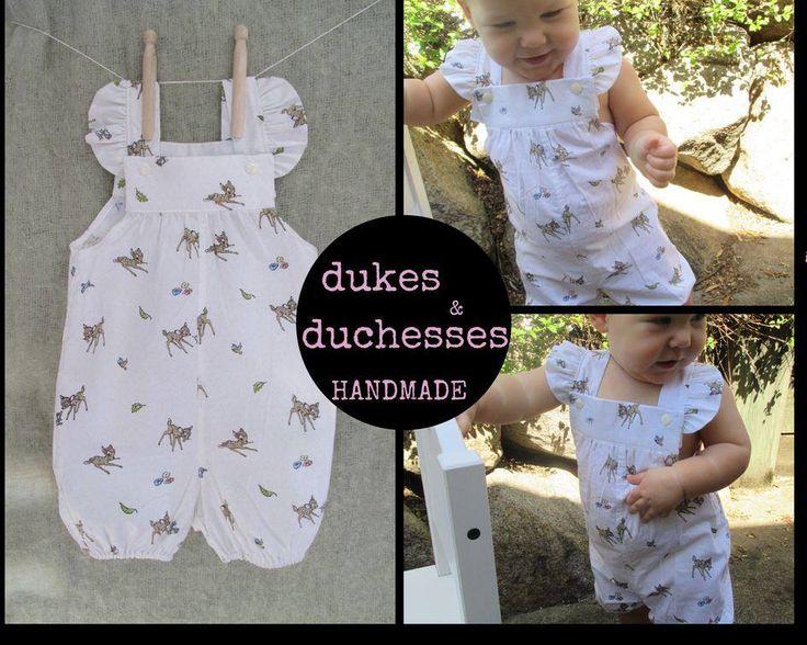 Handmade by @dukes and duchesses handmade  Short Vintie 'BAMBI' Overalls for GIRLS