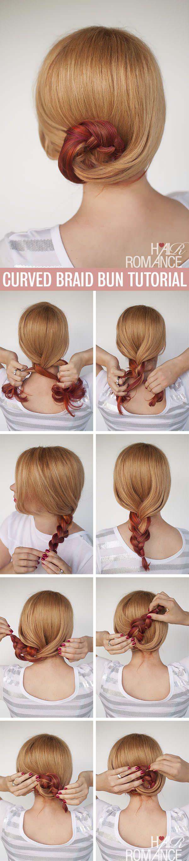 Curved Braid Bun Tutorial