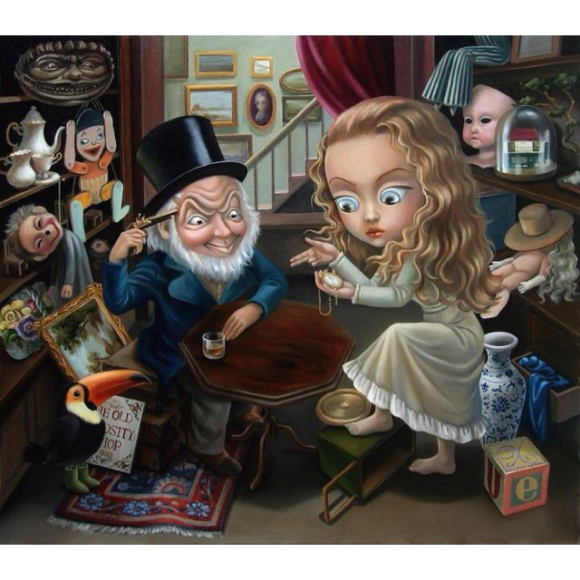 The Old Curiousity Shop by Xue Wang. Done for Charles Dickens BiCentenial Celebrations. Her detailing is immense. Love it xxx