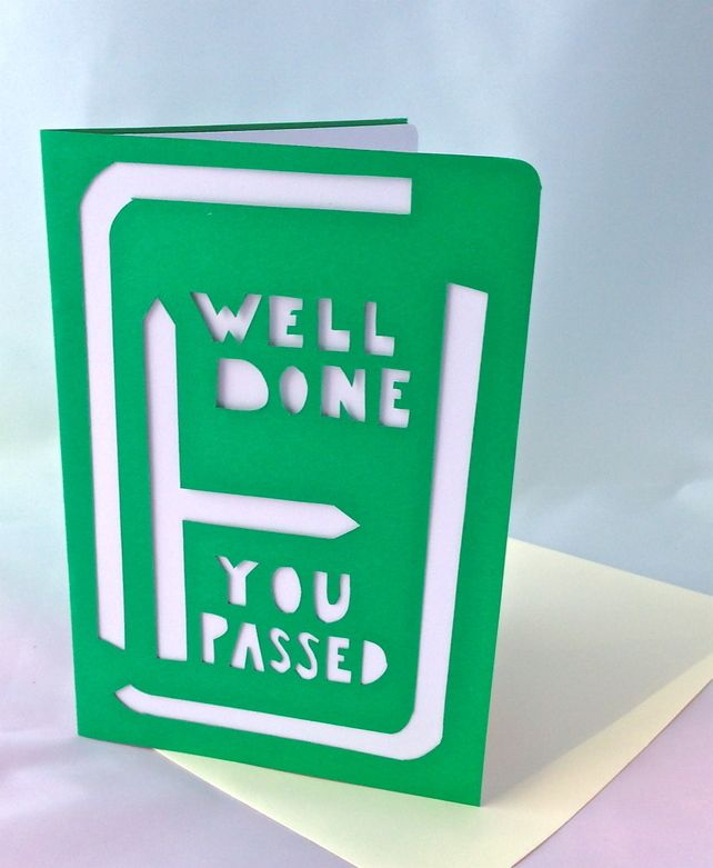 'Well done you passed' driving test card £2.50