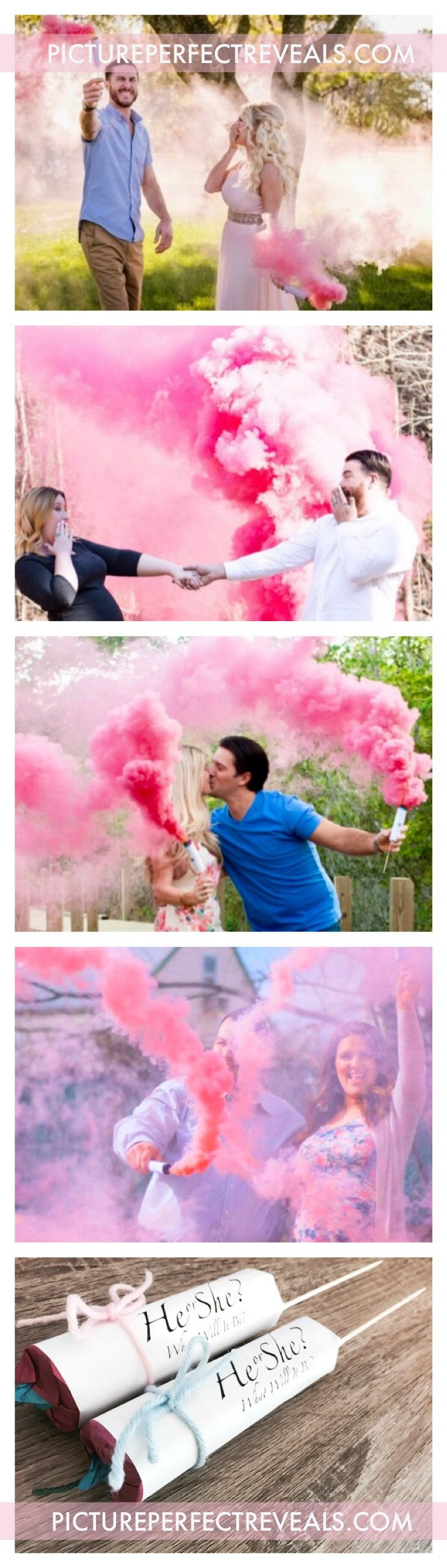 $3.95 Smoke Fountains with Bamboo Sticks for the Picture Perfect Gender Reveal!