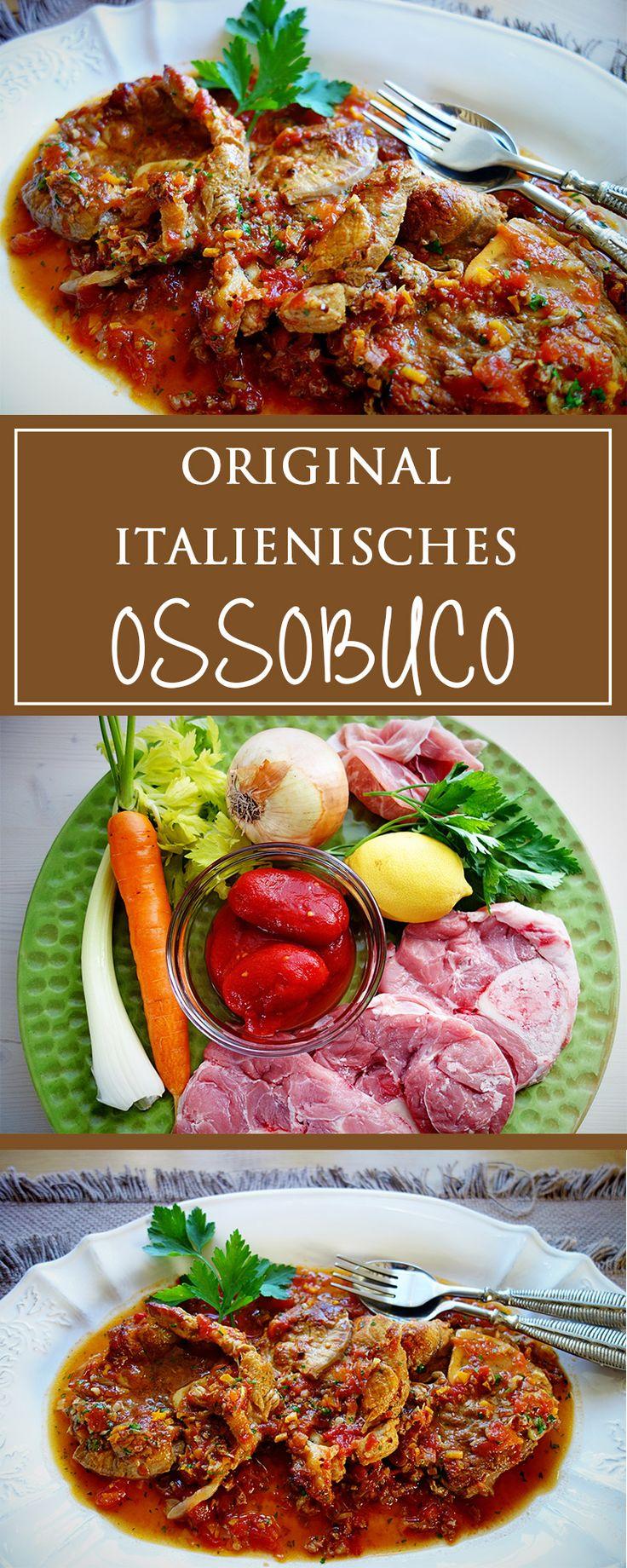 Original italienisches Ossobuco - ein einfaches Rezept für ein unwiderstehlich leckeres, herzhaftes Fleischgericht für einen Sonntags- oder Feiertagsbraten! 🍴🇮🇹🍗| cucina-con-amore.de