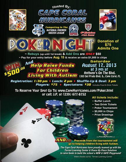 Autism poker tournament