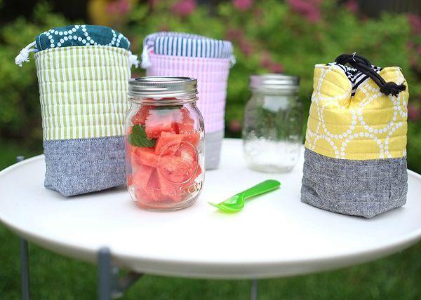 Tutorial: Insulated mason jar bag